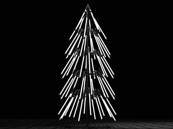 Светящаяся новогодняя елка