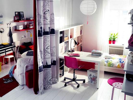 Оформление интерьера комнаты для девушки в современном стиле