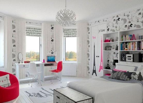 Современный дизайн интерьер комнаты для девушки