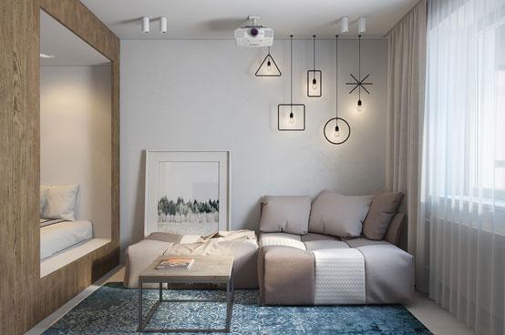 Интерьер квартиры-студии до 30 кв. м