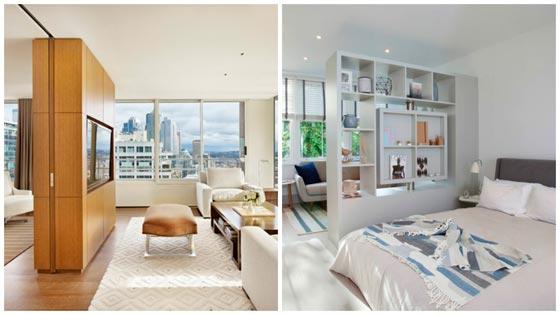 Примеры зонирования комнат