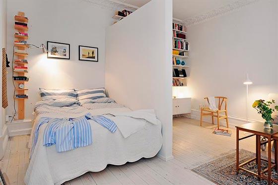 Зонирование комнаты с помощью перегородки из гипсокартона фото