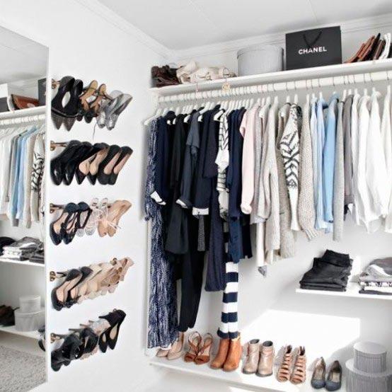 гардеробные комнаты маленьких размеров с зеркалом