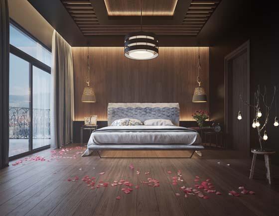 Деревянная стена в спальне: 11 примеров, которые вызовут у вас восторг