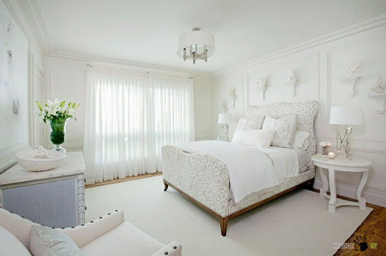 56 лучших интерьеров спальни с белой мебелью