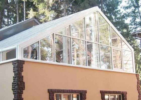 Как выглядит зимний сад на крыше частного дома