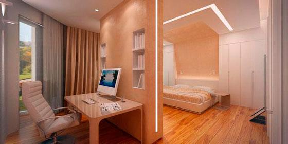 Перегородка в спальне. И декоративно, и функционально