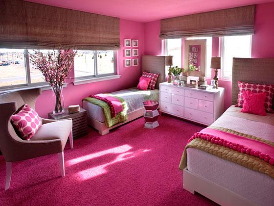 Дизайн детской комнаты для двух девочек