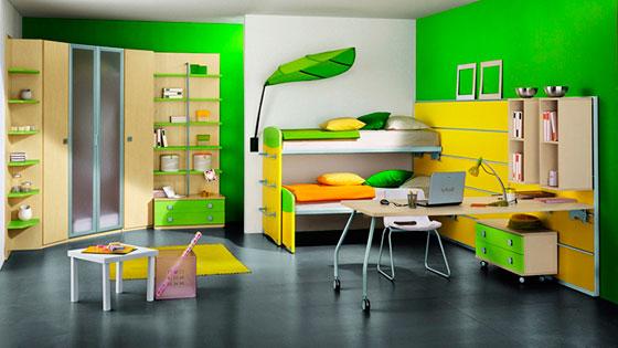 интерьеры детских комнат для двоих девочек
