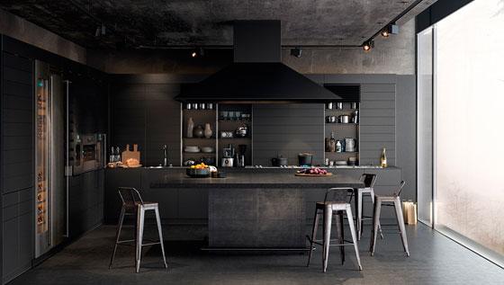 30 удивительных интерьеров кухни в черном цвете