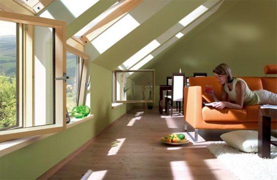 Дизайн интерьера мансарды в частном загородном доме