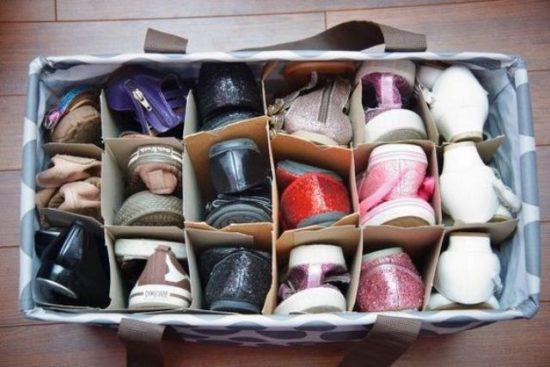 Как компактно хранить обувь: 41 фото