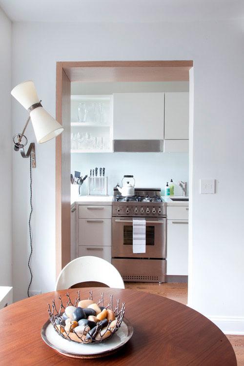 вход на кухню без двери